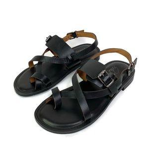 Patricia Nash Fidella Black Ankle Strap Sandals